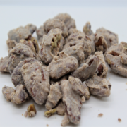brown sugar and white chocolate glazed pecans