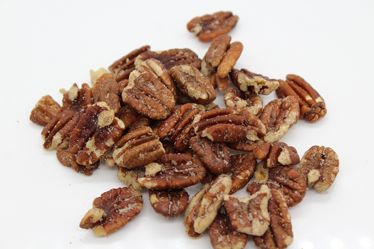 salted pecans by the pecan man